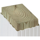 Beechdale 6 In. W. x 6 In. H. x 102 In. L. White PVC Fluted Post Wrap Image 2