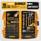 DeWalt XP16-Piece Titanium Pilot Point Drill Bit Set, 1/16 In. thru 1/2 In. Image 1