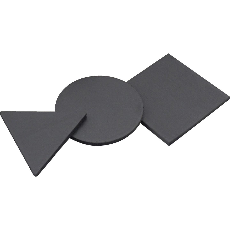 Master Magnetics Black Assorted Magnetic Shapes (30-Pack) Image 1