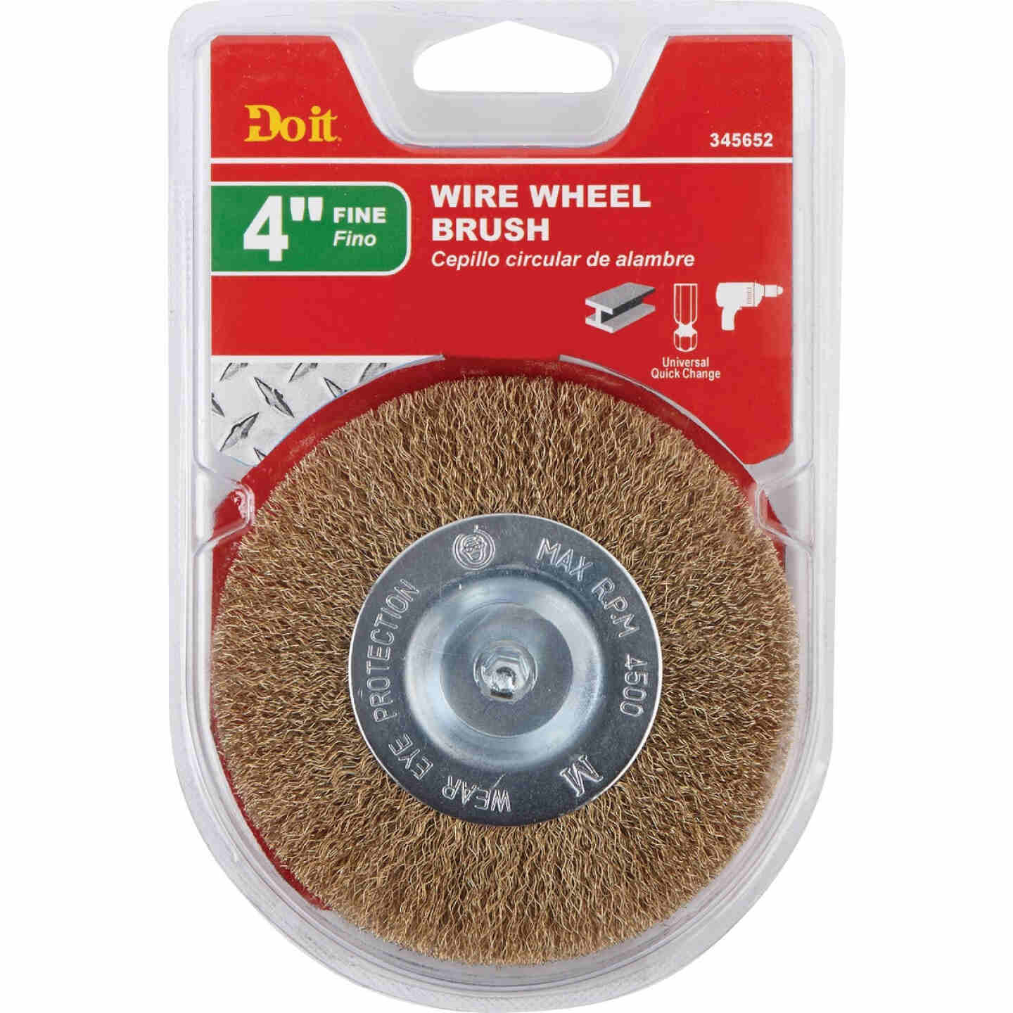 Do it 4 In. Mounted, Fine Drill-Mounted Wire Wheel Image 2