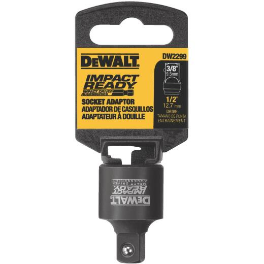 DeWalt Impact Ready 1/2 In. Female to 3/8 In. Male Socket Adapter