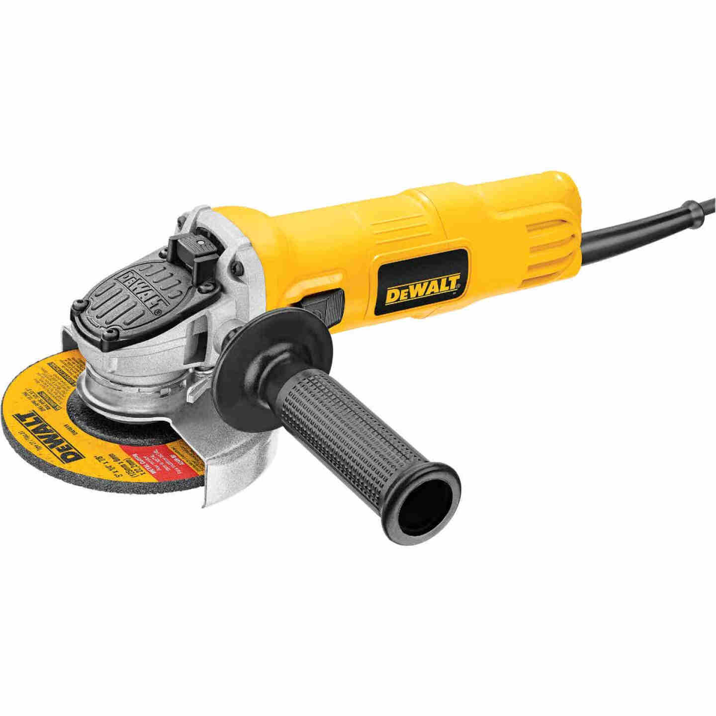 DeWalt 4-1/2 In. 7-Amp Angle Grinder with One-Touch Guard Image 2