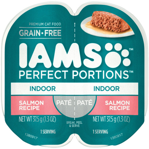 Iams Perfect Portions Indoor Formula 2.6 Oz. Salmon Flavor Adult Wet Cat Food
