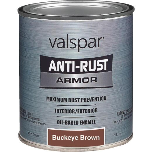 Valspar Anti-Rust Oil-Based Gloss Armor Rust Control Enamel, Brown, 1 Qt.