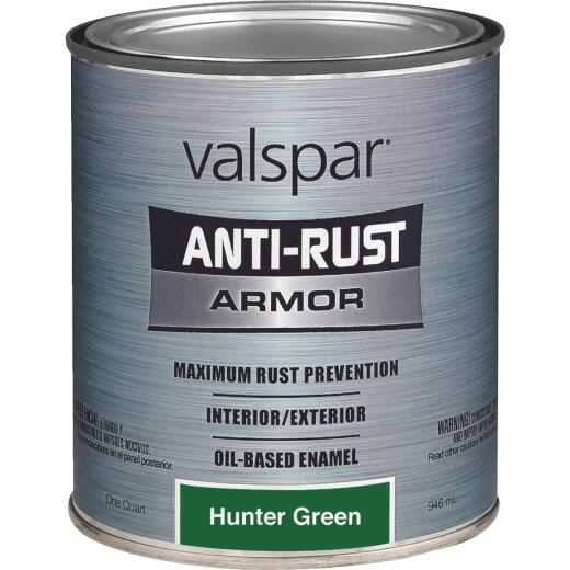 Valspar Anti-Rust Oil-Based Gloss Armor Rust Control Enamel, Hunter Green, 1 Qt.
