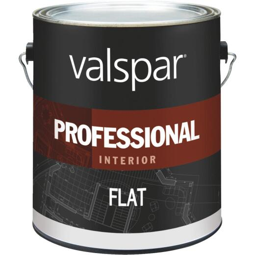 Valspar Professional Latex Flat Interior Wall Paint, High Hide White, 1 Gal.
